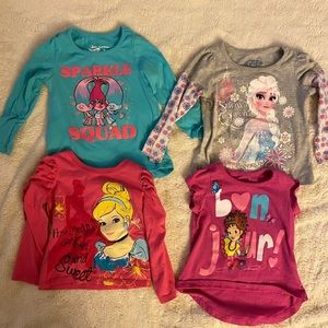 Lot of 4 character tees